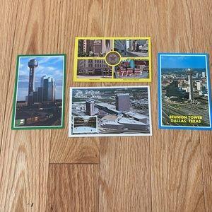 Dallas Texas postcards vintage set of 4